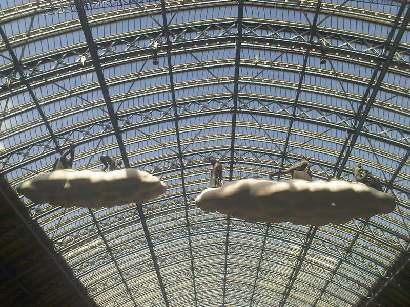 Cloud riders of St Pancras