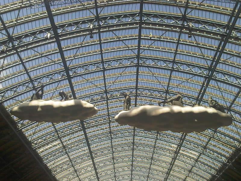 Cloud riders of St Pancras