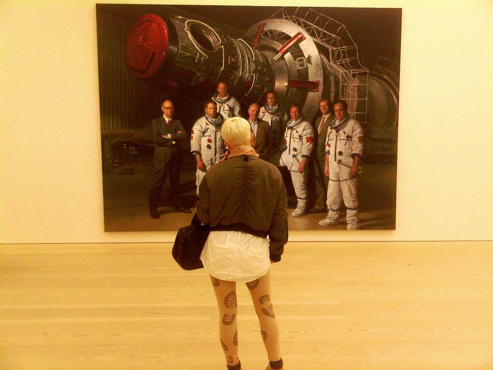 Meeting with remarkable spacemen at Saatchi's